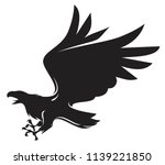 flying eagle attacking vector... | Shutterstock .eps vector #1139221850