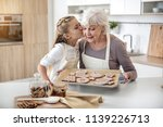 thank you  granny. cute girl is ... | Shutterstock . vector #1139226713
