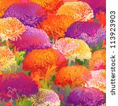 chrysanthemums. autumn colorful ... | Shutterstock .eps vector #113923903