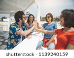 we are great team. excited... | Shutterstock . vector #1139240159