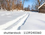 ski track to forest in little...   Shutterstock . vector #1139240360