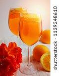 refreshing cold drink aperol...   Shutterstock . vector #1139248610