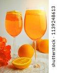 refreshing cold drink aperol...   Shutterstock . vector #1139248613