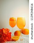 refreshing cold drink aperol...   Shutterstock . vector #1139248616