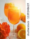 refreshing cold drink aperol...   Shutterstock . vector #1139248619