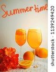 refreshing cocktails aperol...   Shutterstock . vector #1139249420