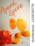 refreshing cocktails aperol...   Shutterstock . vector #1139250770