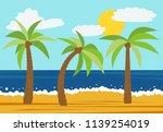 cartoon nature landscape with...   Shutterstock . vector #1139254019