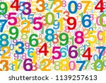 colored numbers on white... | Shutterstock .eps vector #1139257613
