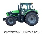 Green Tractor Isolated On White ...