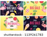 abstract summer sale background ...   Shutterstock .eps vector #1139261783