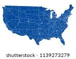 usa road map | Shutterstock .eps vector #1139273279