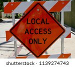 local access only sign | Shutterstock . vector #1139274743