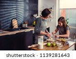 mother and daughter making... | Shutterstock . vector #1139281643