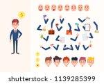 set of vector cartoon... | Shutterstock .eps vector #1139285399