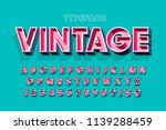 retro original 3d display font... | Shutterstock .eps vector #1139288459