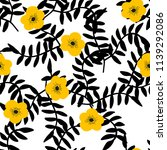 beautiful pattern with black... | Shutterstock .eps vector #1139292086