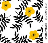 beautiful pattern with black... | Shutterstock .eps vector #1139292110