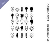 light bulb icons templates | Shutterstock .eps vector #1139298590