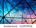 high voltage post.high voltage... | Shutterstock . vector #113929936