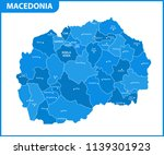 the detailed map of macedonia... | Shutterstock .eps vector #1139301923