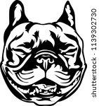 boston terrier lap dog breed... | Shutterstock .eps vector #1139302730