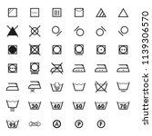 laundry symbols icon set .... | Shutterstock .eps vector #1139306570