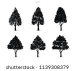 set of tree silhouettes...   Shutterstock .eps vector #1139308379