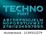 a custom high tech alphabet... | Shutterstock .eps vector #1139312279