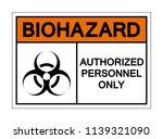 biohazard  authorized personnel ... | Shutterstock .eps vector #1139321090