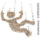 crowd of small symbolic figures ...   Shutterstock . vector #1139322353