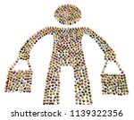 crowd of small symbolic figures ...   Shutterstock . vector #1139322356