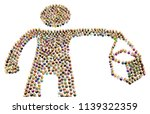 crowd of small symbolic figures ...   Shutterstock . vector #1139322359