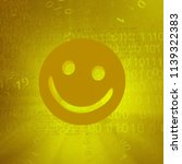 yellow smile symbol  cyberspace ...   Shutterstock . vector #1139322383