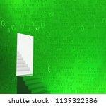 stairs door  cyberspace virtual ...   Shutterstock . vector #1139322386