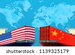 concept image of  usa china... | Shutterstock . vector #1139325179