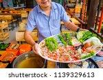happy smile man holding super... | Shutterstock . vector #1139329613