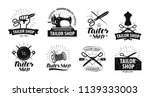 tailor shop logo or label.... | Shutterstock .eps vector #1139333003