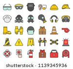 personal protective equipment... | Shutterstock .eps vector #1139345936