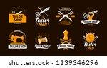 tailoring  tailor shop logo or... | Shutterstock .eps vector #1139346296