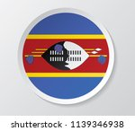 swaziland flag vector circle... | Shutterstock .eps vector #1139346938