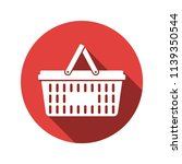 shopping basket flat icon vector | Shutterstock .eps vector #1139350544