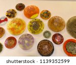 colorful plates collection | Shutterstock . vector #1139352599
