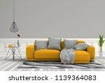 living room interior in modern... | Shutterstock . vector #1139364083