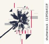 hello summer  modern poster... | Shutterstock .eps vector #1139364119