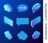 isometric chat bubble vector... | Shutterstock .eps vector #1139364743