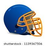 american football helmet on... | Shutterstock .eps vector #1139367506