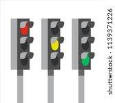 traffic light signals  vector... | Shutterstock .eps vector #1139371226
