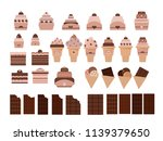 desserts and pastry cakes ... | Shutterstock .eps vector #1139379650