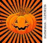 scary pumpkin jack o' lantern... | Shutterstock .eps vector #113938156